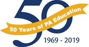 50th Anniversary Banner says 50 Years of PA Education 1969-2019